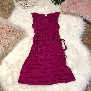 Love Fire Magenta and Black Dress
